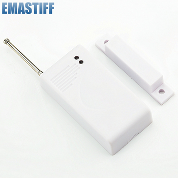 433Mhz czujniki i alarmy kontakt bezprzewodowy czujnik detektora drzwi z magnesem wejściowym do bezprzewodowego domowy system alarmowy gsm tanie i dobre opinie eMastiff white no 12V23A