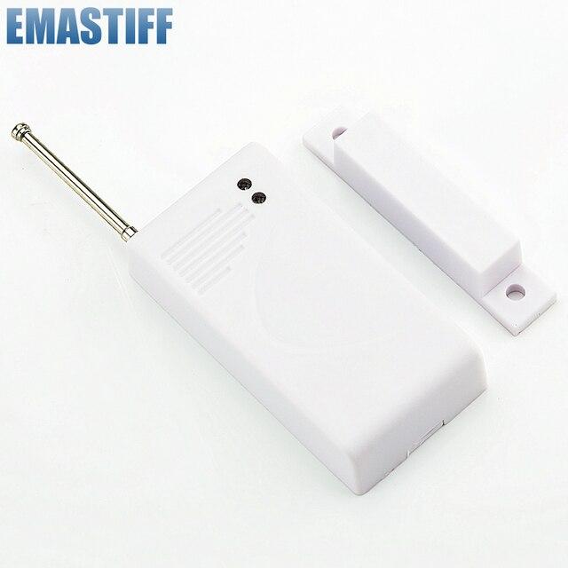 433Mhz חיישנים ואזעקות קשר אלחוטי דלת חלון מגנט כניסת גלאי חיישן עבור אלחוטי GSM אבטחת בית אזעקה מערכת