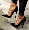 Mulheres Sapatos Da Moda Sapatos de Cetim Mulheres Dedo Apontado Bombas Dos Saltos de Estilete Mulheres Sapatos EU34-43 Grandes Sapatos Tamanho Das Mulheres