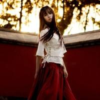 LZJN White Linen Top 2018 Summer Kimono Style Ladies Shirts Flare Sleeve Folk Hanfu Blusas Traditional Chinese Blouses for Women