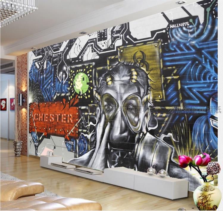 Free Shipping Abstract KTV 3D large mural Bar Cafe personalized graffiti art wallpaper mural free shipping personalized fashion figure puzzle 3d wallpaper salon bedroom wallpaper background bar ktv mural