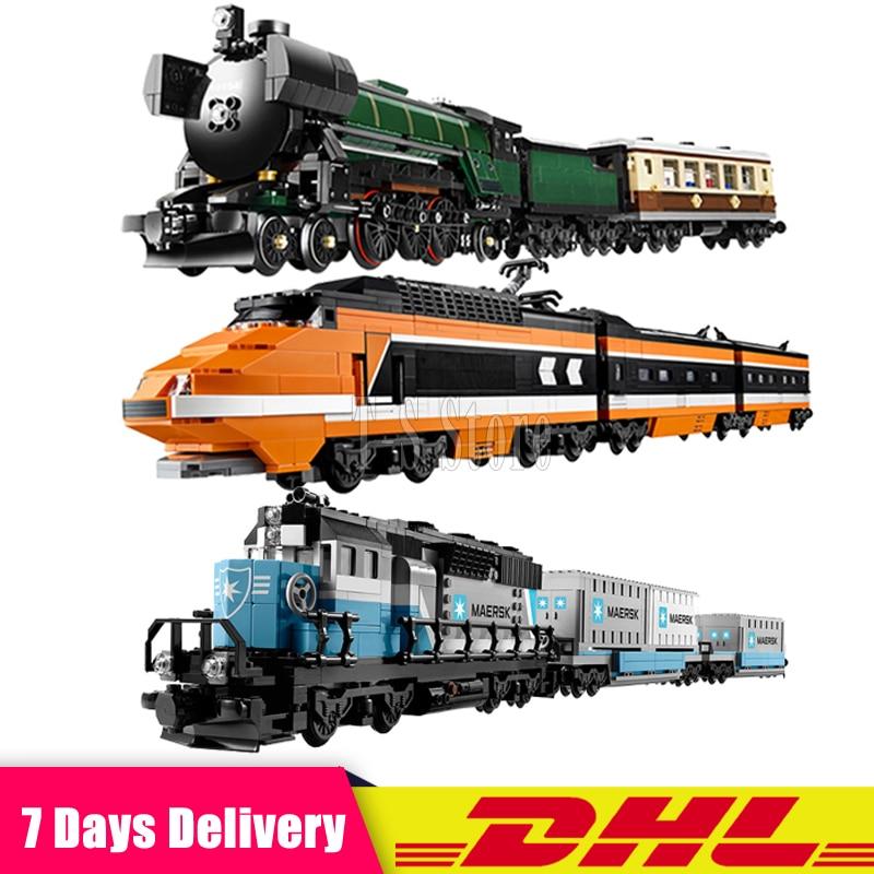 все цены на LEPIN 21005 Emerald Night Train+21006 The Maersk Train+21007 The Horizon Express Train Model Building Blocks MOC Legoinglys онлайн