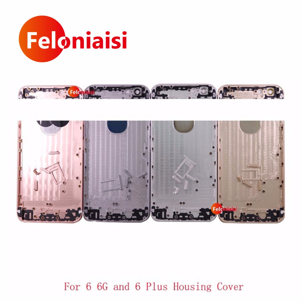10Pcs/lot Replacement For IPhone 6 6G 4.7 and 6 Plus 5.5 Housing Back Middle Frame Chassis Housing Rear Cover Battery Door