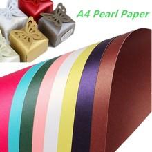 250gsm перламутровая цветная бумага, Подарочная обертка ручной работы, бумага для оригами, блестящая крафт-бумага, изготовление бумажных карточек, картон А4, плотная крафт-бумага