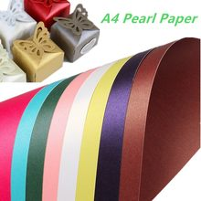 250gsm Pearl Color Paper Gift Wrapper Handmand Origami Paper Shiny Craft Paper Card Making Cardboard A4 Thick Kraft Paper(China)
