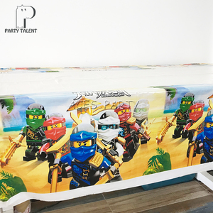 Image 5 - لوازم الحفلات 38 قطعة ل 12 الاطفال ninjaguing حفلة عيد ميلاد الديكور مجموعة أدوات المائدة لوحة كأس القش راية سماط توبر