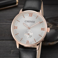 CHENXI Top Brand Luxury Dual Time Casual Gold Business Watch Men Male Wristwatches Quartz Watch Relogio