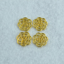 90pcs new design Gold metal charms Filigree flower pendants ,necklace or bracelets for jewelry making Z142065