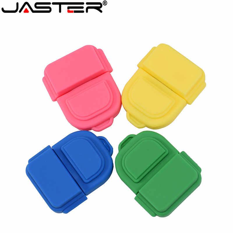 4 色美しいスクールバッグ USB フラッシュドライブ 4 ギガバイト 8 ギガバイト 16 ギガバイト 32 ギガバイト 64 ギガバイト Pendrives USB2.0 フラッシュメモリスティックバックパックペン