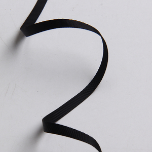 Черный цвет twill лента grosgrain bia 1 см 3/8 дюйма