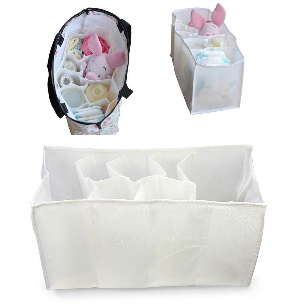 WhiteBlue Baby Portable Diaper Nappy Storage Outdoor Travel Bag Multifunction Organizer Liner Pouch Convenient Durable Mummy Bag