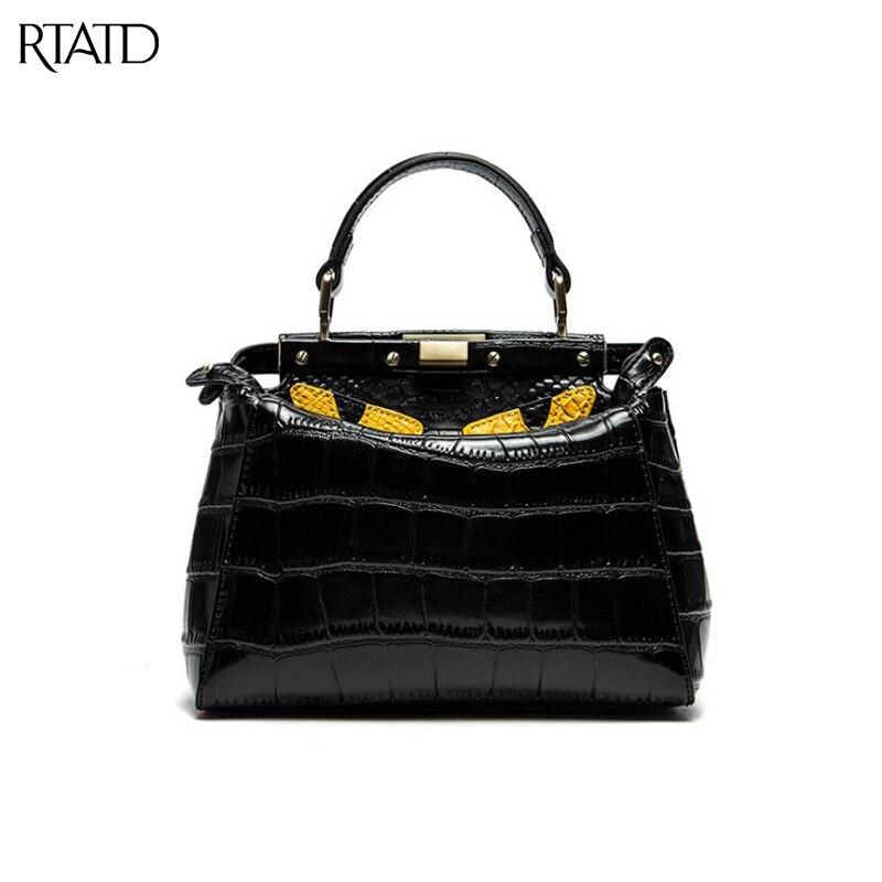 RTATD New Fashion Brand Design Women Handbags Vintage Monester Tote Ladies Shoulder Bags B243