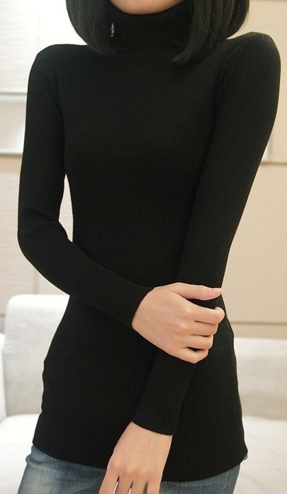 ZOGAA  autumn&winter new fashion tide-korean pullover thick bottoming womens high-collar long slim sweater