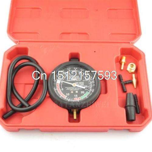 Carburetor Valve Fuel Pump Pressure & Vacuum Tester 3.5 Gauge Test Car Tool