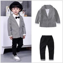Children s children for boys gentleman spring wind model plover jacket pants in two sets of