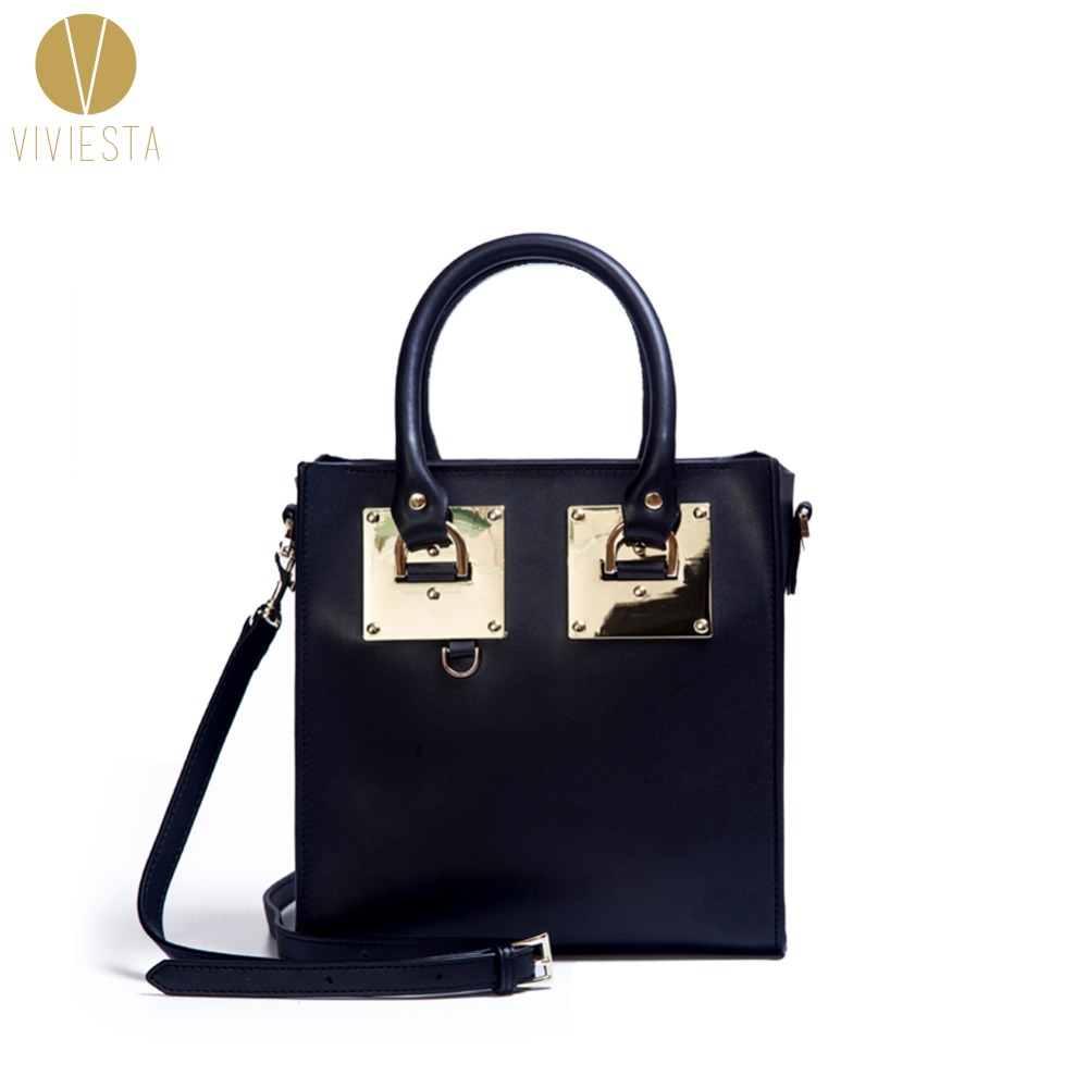 GENUINE LEATHER METAL PLATE MEDIUM STRUCTURED TOTE BAG Womens 2019 Fashion Famous Brand Shopper Shoulder Bag Handbag BolsaGENUINE LEATHER METAL PLATE MEDIUM STRUCTURED TOTE BAG Womens 2019 Fashion Famous Brand Shopper Shoulder Bag Handbag Bolsa