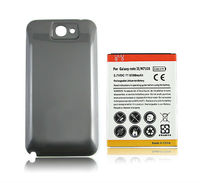Cell Phone Replacement Rechargeable Batteria Extended 6500mAh Battery Back Cover Case For Samsung Galaxy Note 2