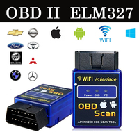 2016 Latest Wifi Bluetooth OBD2 Interface Can Bus Scanner ELM 327 OBD II Supports Android IOS