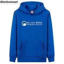 Black Mesa Half Life neighboring Montenegro head sweatshirts jacket plus thick velvet autumn & winter large size mens hooded top