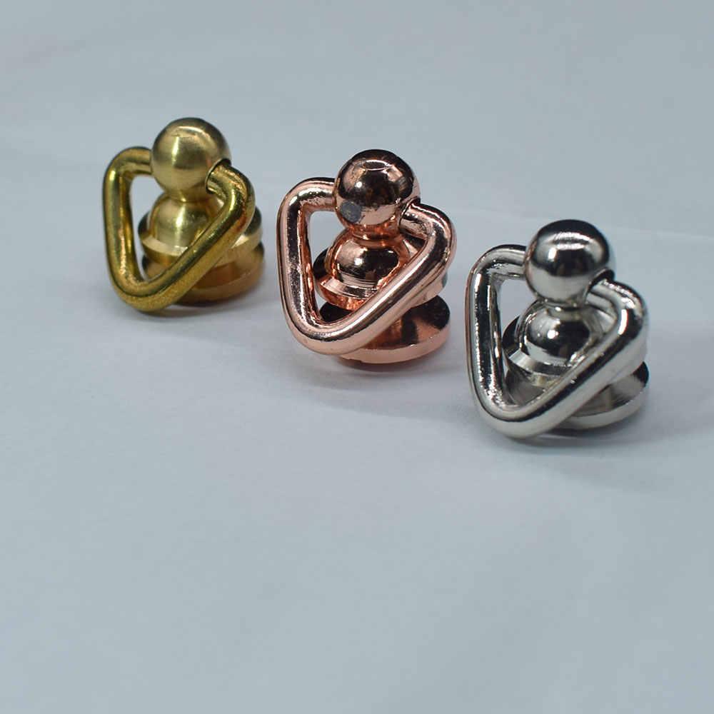 1 шт., твердая металлическая кнопка, кольцо в форме сердца, круглая головка, шпилька, отвертка, кожаная сумка для рукоделия, Chicago, винт, заклепки для ногтей, кожаные аксессуары для рукоделия