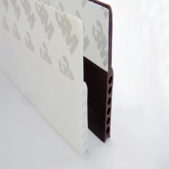 1 Pcs Self Adhesive Silicone Bottom Door Window Tape 3m Rubber Sealing Strip Weatherstriping Sound Insulation 3meter genuine original garage door bottom shuttergate electric door bottom sealing rubber strips of leather