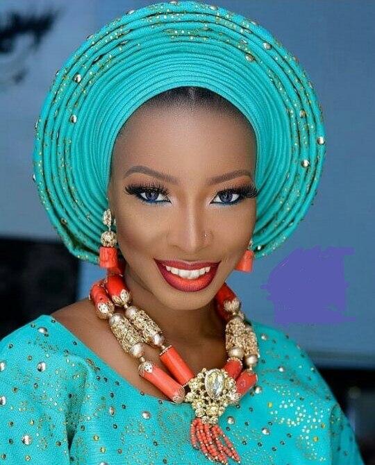 Chunky Original perles de corail nigérian mariage bijoux africains ensembles or mariage audacieux collier ensemble pour les femmes CNR898
