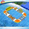 Бесплатный воздух доставка до двери, 18*12 м гигантский надувной водный парк для детей и взрослых