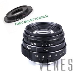 Image 2 - Jvenes Mini 35mm f/1,6 APS C TV lente + C Macro anillo adaptador de cámara para Micro 4/3/Pentax Q OM DE M10 II E M5 IIE M1 E M5