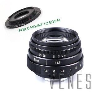 Image 2 - VENES Mini 35mm f/1.6 APS C TV Lens + C Anel Macro para câmera adaptador para Micro 4/3 /para Pentax Q OM DE M10 II E M5 IIE M1 E M5