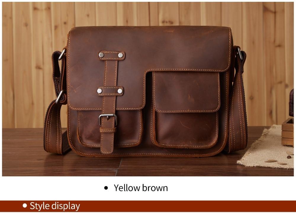 Cloud Mens Bag Briefcase Computer Shoulder Portable Diagonal Bag Business Casual Color : Brown, Size : 25cm