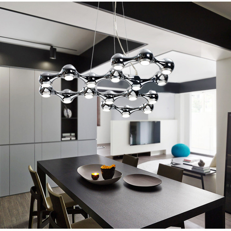10/18 Lights Nodric Art Dining Room Led Pendant Light Stainless Steel Special Design Bar Counter  Bedroom Light led pendant light designer pendant lightpendant lights - title=