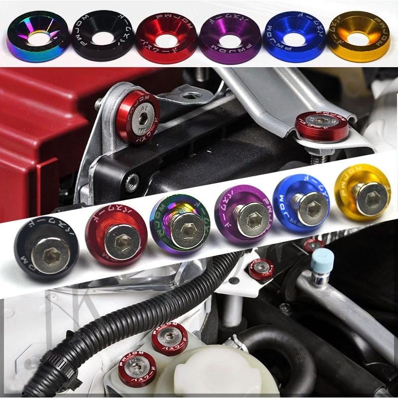 10 PCS M6 Car Styling Universale Modifica JDM Sticker Adesivi Password Fender Rondella Bulloni Della Targa di immatricolazione Auto Accessori
