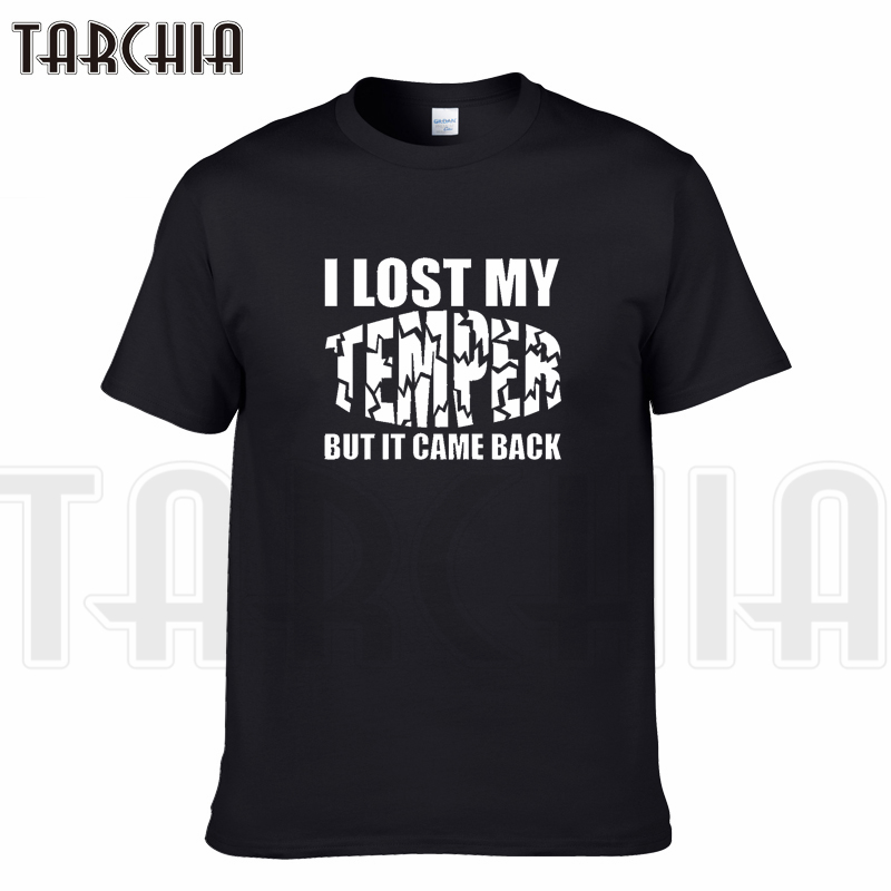 TARCHIA 2018 New Brand t-shirt lose temper  funny cotton tops tee men short sleeve boy casual homme tshirt t plus fashion