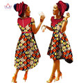 African Clothes Women Sleeveless Long Dress African Dresses for Women Wax Print Cotton with Headtie Fashions Clothes 6XL WY1175