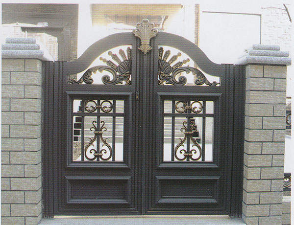 Online Shop Home Aluminium Gate Design Steel Sliding Gate