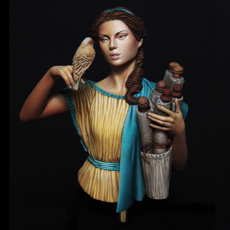 1/10 Resin Bust Model Kit Hipatia Historical Theme Unpainted And  Unassembled  X183G