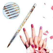 1pc Multifunctional Carving Pen Nail Art UV Gel Rhinestone Liquid Glitter Handle Brush Pen DIY Tools Beauty Accessories