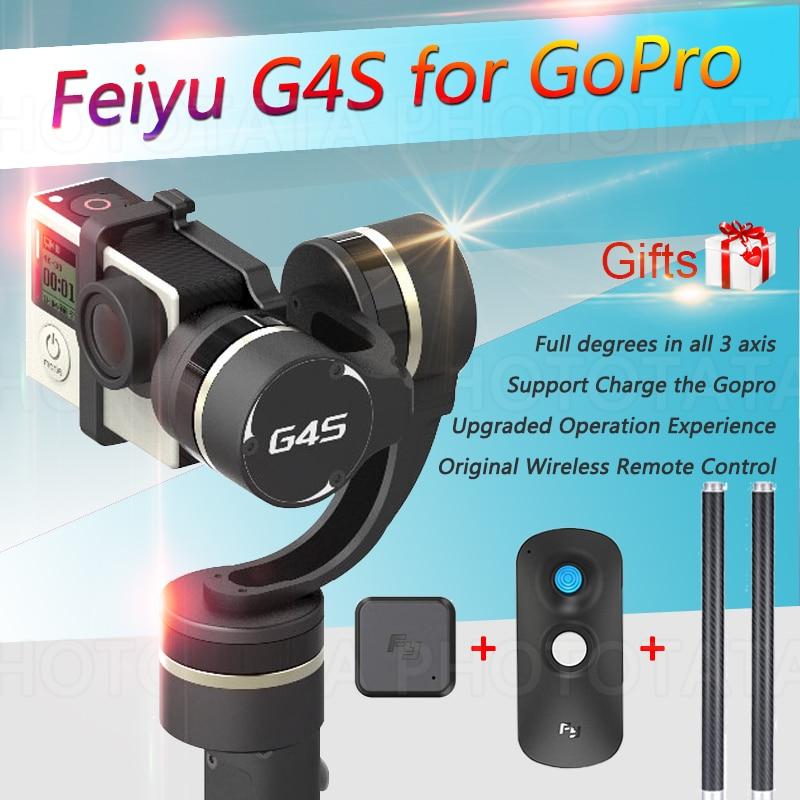 Free Gifts FEIYU TECH FY G4S Gimbal 360 Degree Coverage 3 Axis Handheld Gimbal Suitable for GoPro HERO 4 / HERO 3+ / HERO 3
