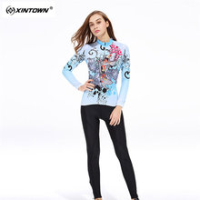 XINTOWN Sweat Long Sleeve Cycling Jersey Set MTB Bike Clothing Bicycle Jerseys Clothes B Maillot Ropa Ciclismo