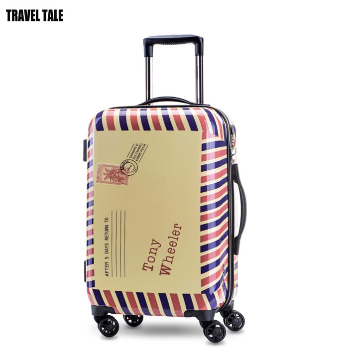 "TRAVEL TALE 20""24 inch tsa lock spinner hand rolling luggage hardside bavul travel trolley bags"