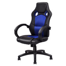 Giantex PU Leather Executive Racing Style Bucket Seat Ergonomic Computer Gaming Chair Swivel Armchair Furniture HW54590BL