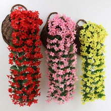 Artificial Fake Hanging Vine Plant Leaves Garland Home Garden Wall Decoration artificial flowers for wedding supplies