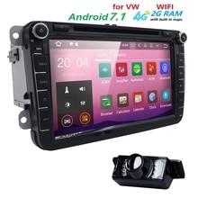 Android7.1 8 Zoll CarDVD Player Für VW/Volkswagen/POLO/PASSAT/Golf/TOURAN/SHARAN Quad Core Wifi 4G USB GPS Navigation Radio 2 GRAMM