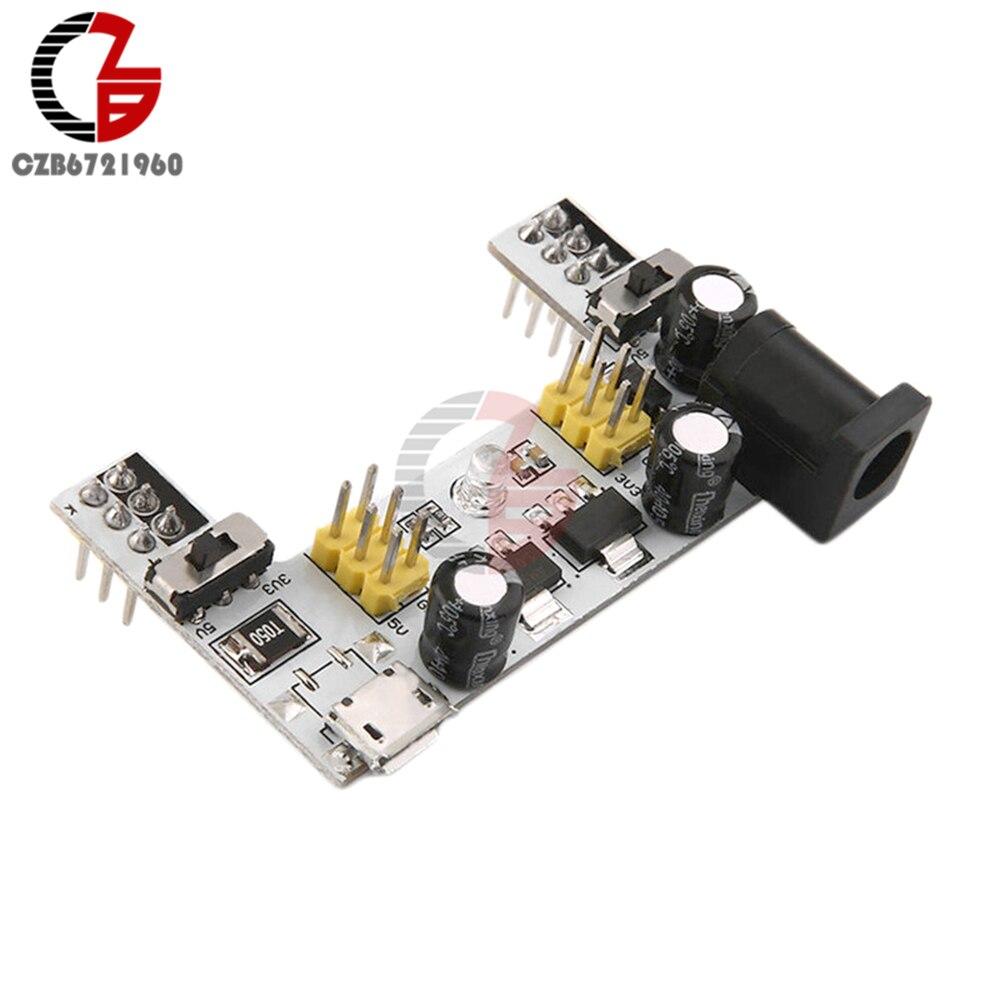 MB102 Breadboard Power Supply Module DC 7-12V Micro USB Interface MB-102 2 Channel Bread Board Power Module