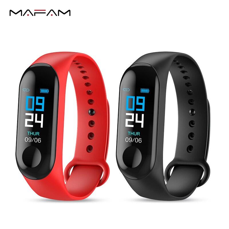 MAFAM M3X Pulseira Das Mulheres Dos Homens Assista Heart Rate Monitor de Pressão Arterial Inteligente Rastreador De Fitness Esportes Relógios À Prova D' Água Banda Inteligente