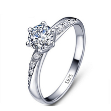 free shipping white gold plated CZ diamond jewelry ring love engagement wedding rings for women bijoux Bagues wholesale MYR061