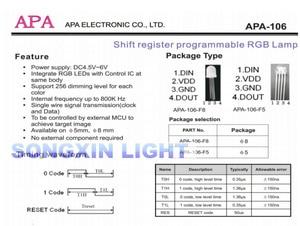 Image 3 - 100pcs APA106 F5 5mm RGB LED Chips Integrated RGB LEDs (like WS2812B) APA106 round hat Full color LEDs