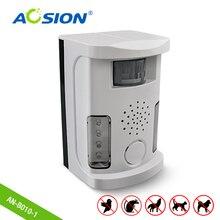 Allarme elettronico multifunzione per cani e gatti, repellente per uccelli, sensori PIR, ultrasuoni, allarme lampeggiante
