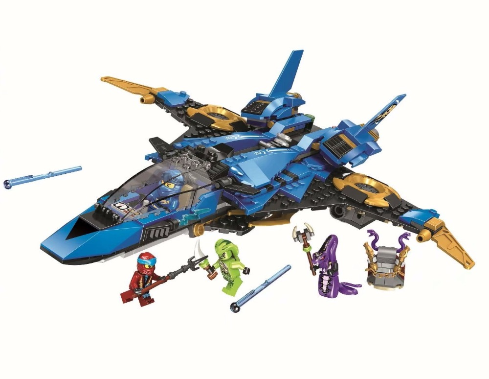 2019 <font><b>Ninjagoe</b></font> Jay's Storm Fighter Spaceship Wars Figures Model Building Blocks Compatible with lego ninja <font><b>70668</b></font> Gift Toys image