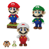 Game Super Mario Micro Blocks DIY Building toys Figures Kids Gifts cartoon game anime bricks